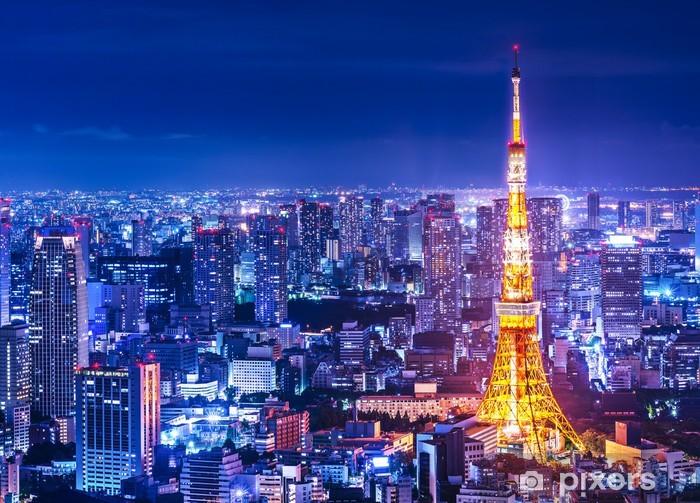 Papier peint vinyle Tour de Tokyo et Skyline - Styles