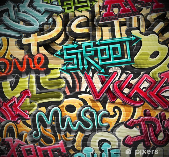 Poster Graffiti achtergrond -