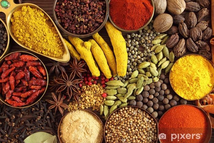 Mural de Parede em Vinil Indian spices - Temas