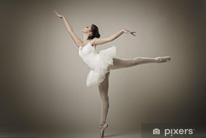 Pixerstick Sticker Portret van de ballerina in ballet vormen - Thema's