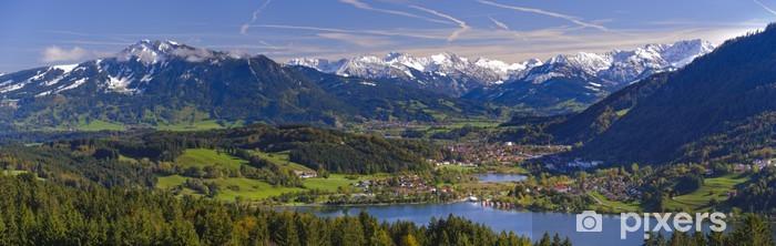 Nálepka Pixerstick Panorama krajiny a Alpy hory v Bavorsku - Témata