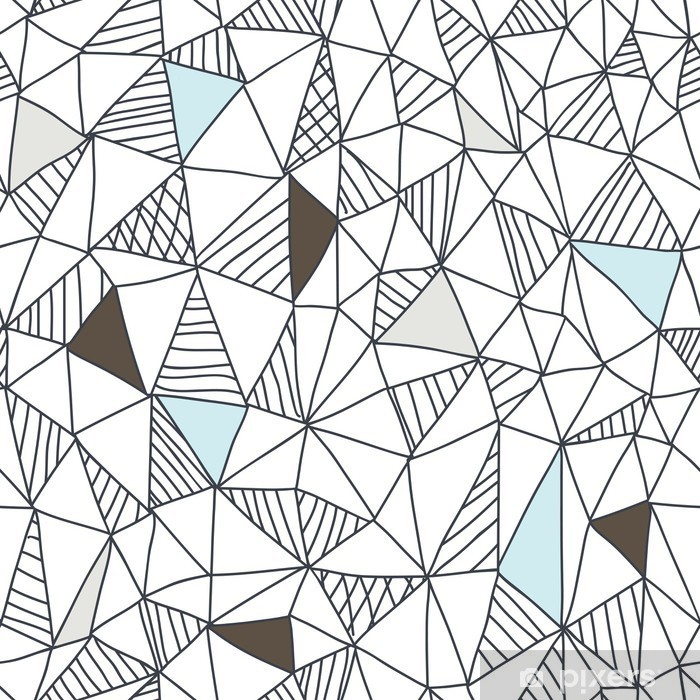 Abstract seamless doodle pattern Pixerstick Sticker - Business