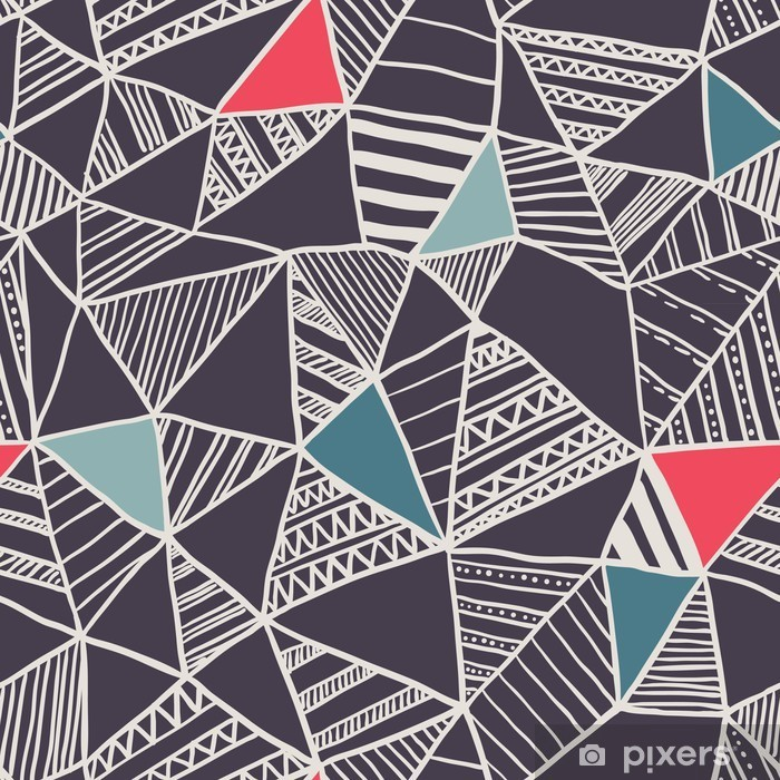 Abstract seamless doodle pattern Pixerstick Sticker - Business