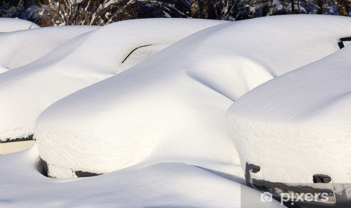 Naklejka Pixerstick Zimowa motoryzacja - Klęski żywiołowe