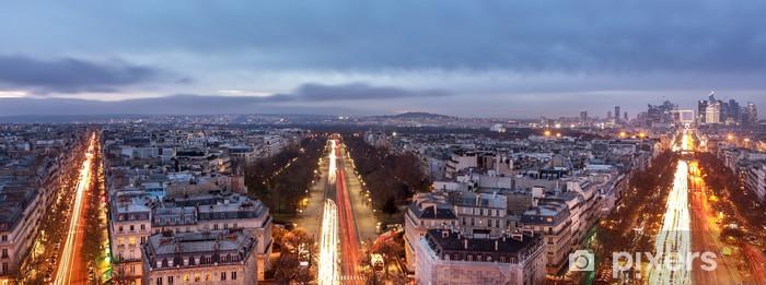 Naklejka Pixerstick Paryz noca - Miasta europejskie