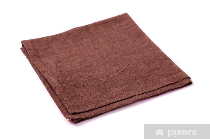 Papier peint vinyle Serviette rugueuse Brown isolé - Repas