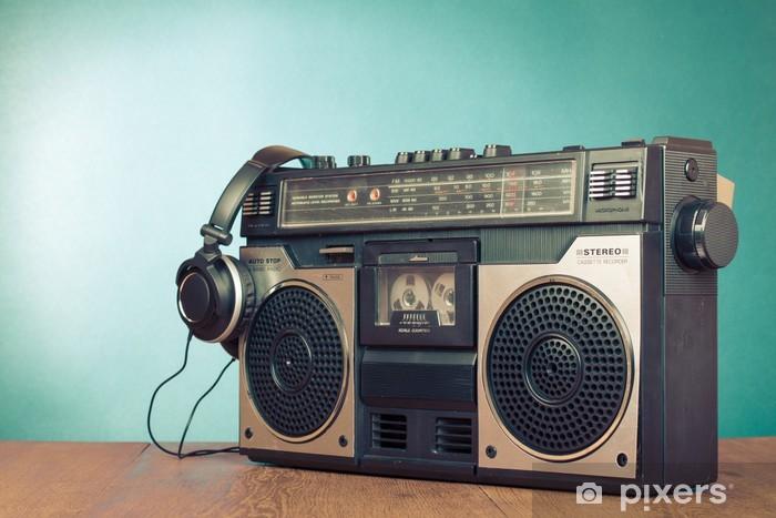 Fototapeta winylowa Retro getto blaster rejestrator kaseta mięta zielona przedni - Hip Hop