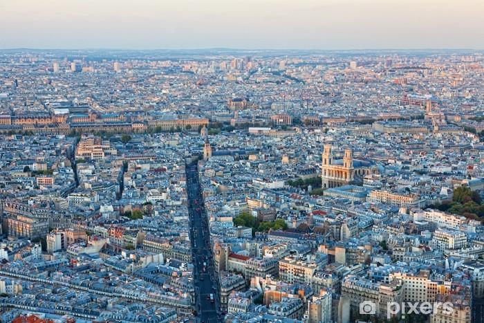 Papier peint vinyle Vue aérienne de Paris - Autres Autres
