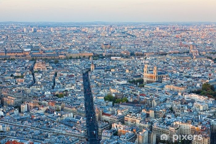 Aerial view of Paris Pixerstick Sticker - Other Other