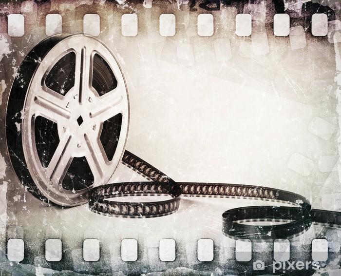 Pixerstick Dekor Grunge skrapad smutsig filmremsa, filmrulle bakgrund - Teman