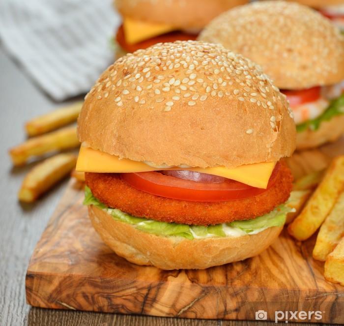 Naklejka Pixerstick Burger - Posiłki