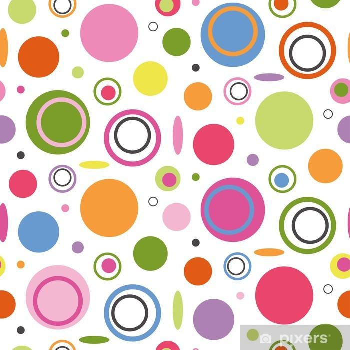 Poster Cercles colorés de motifs - Styles