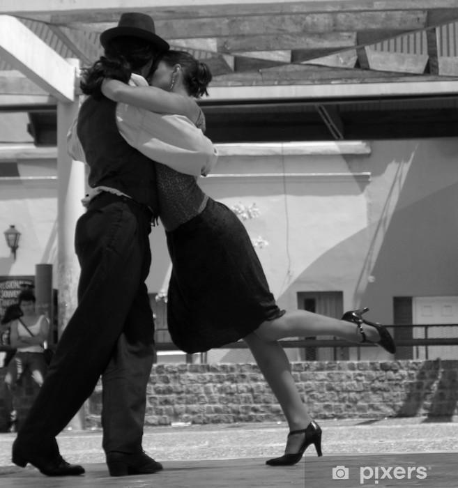 Naklejka Pixerstick Tancerze tanga w Buenos Aires - Rozrywka