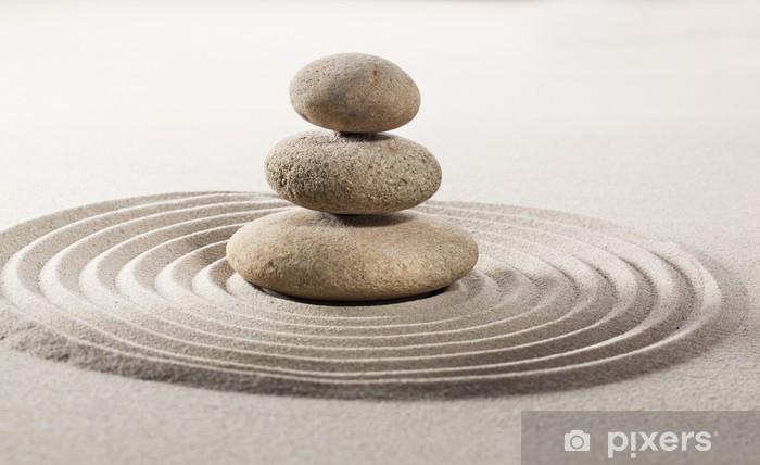 Naklejka Pixerstick Azjatycki symbol równowagi - Tekstury