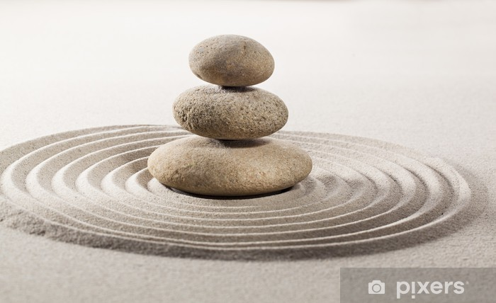 Papier peint vinyle Symbole de l'équilibre asiatique - Textures