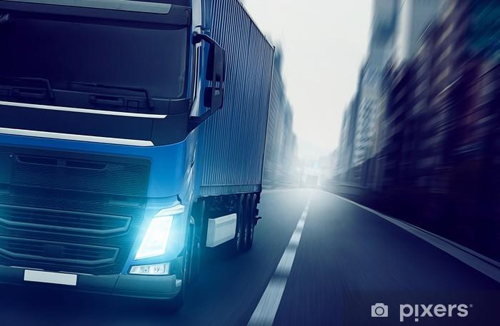 City Truck Pixerstick Sticker - Heavy Industry