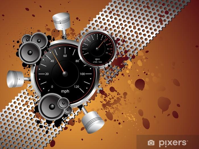 Naklejka Pixerstick Wyścigi prędkość grunge - wektor - Sporty ekstremalne