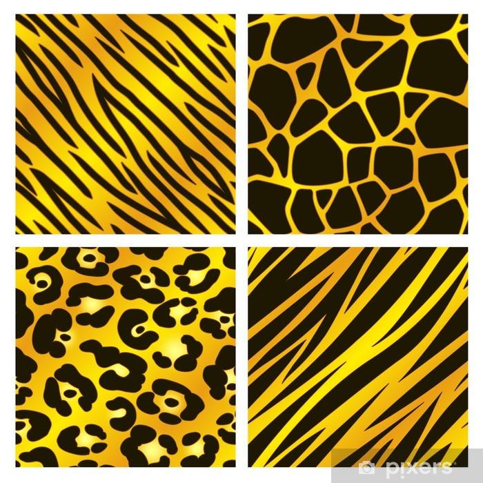 Golden Animal Print Collection Wardrobe Sticker Pixers We Live
