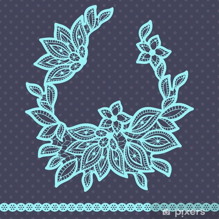 Vinyl-Fototapete Weinlese-Spitze Hintergrund, abstrakte Ornament. Vektor-Textur. - Geschäfte