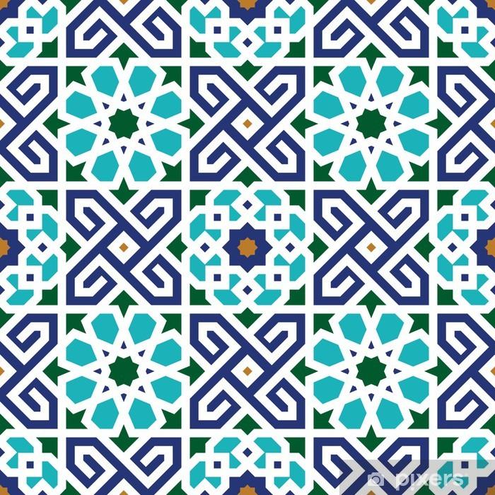 Vinyl Fotobehang Berkane Naadloze Patroon Twee - Marokko