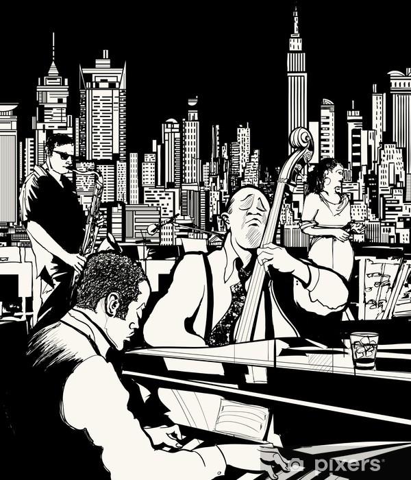 Fotomural Estándar Banda de jazz en Nueva York - Jazz