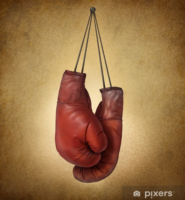 Vinilo Pixerstick Guantes de boxeo de Grunge - Temas