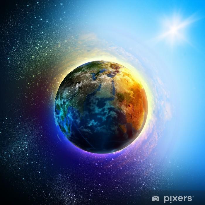 Planet Earth Pixerstick Sticker - Earth