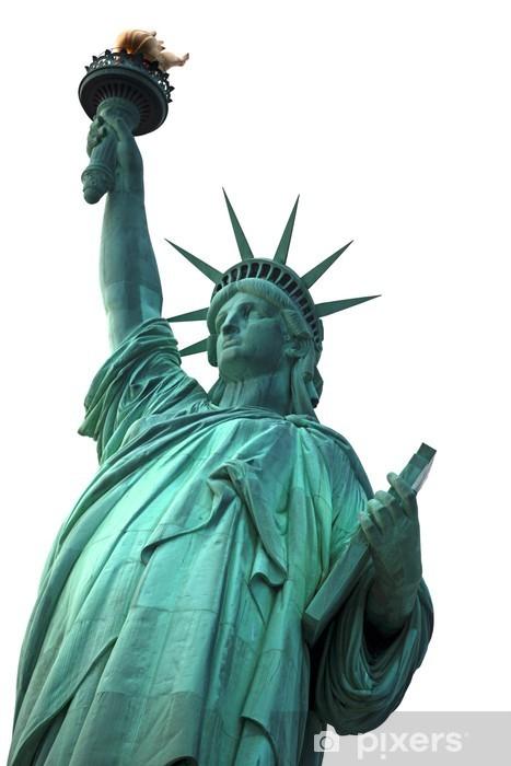 Fototapeta winylowa Famous NY Statue of Liberty na białym - Naklejki na ścianę