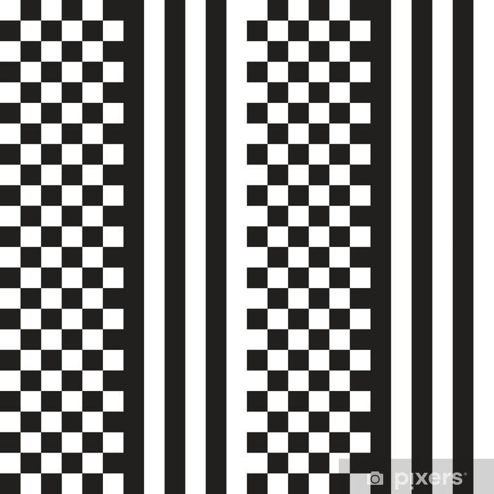 Papier Peint Noir Et Blanc échecs Motif De Rayures Transparent