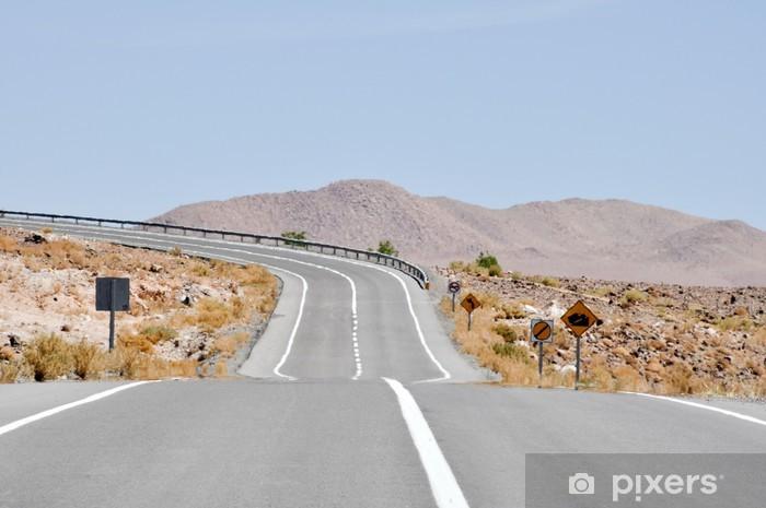 Sticker Pixerstick Route dans le désert d'Atacama, au Chili - Thèmes