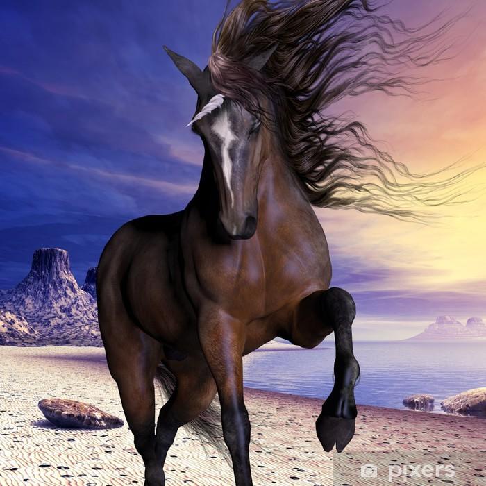 Mahogony Bay Unicorn Pixerstick klistermærke -