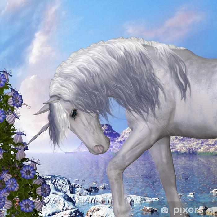 Pixerstick Dekor Unicorn och Blue Bell Flowers - Teman
