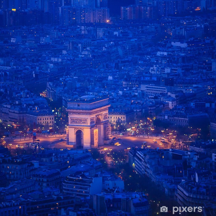 Pariisi ylhäältä katsottuna Pixerstick tarra - Euroopan Kaupunkeja