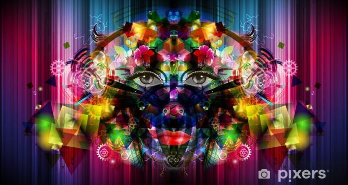 Nálepka Pixerstick Abstraktní světlé pozadí - Jiné pocity