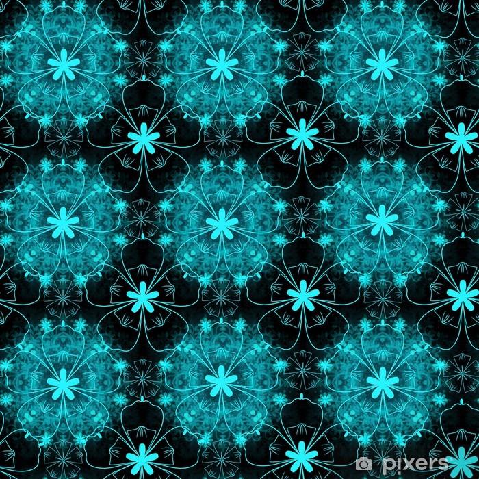 Papier peint vinyle Motif floral de turquoise - Arrière plans