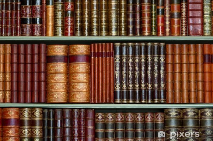 Papier peint vinyle Ancienne bibliothèque de livres d'époque à couverture rigide sur les tablettes - Bibliothèque