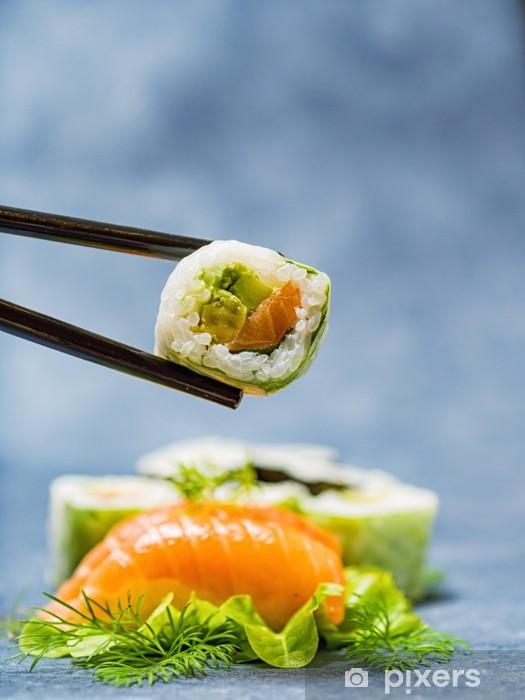 Vinyl-Fototapete Japanisches Essen Sashimi Set - Sushi