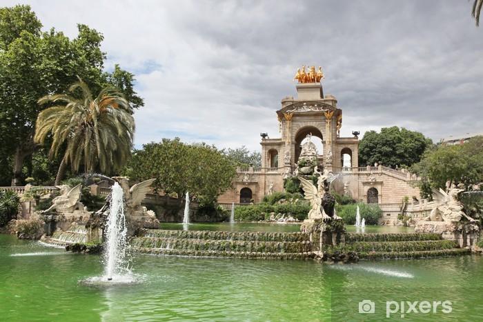 Brunnen Barcelona.Fototapete Brunnen Und Kaskaden Im Park De La Ciutadella In Barcelona Spai