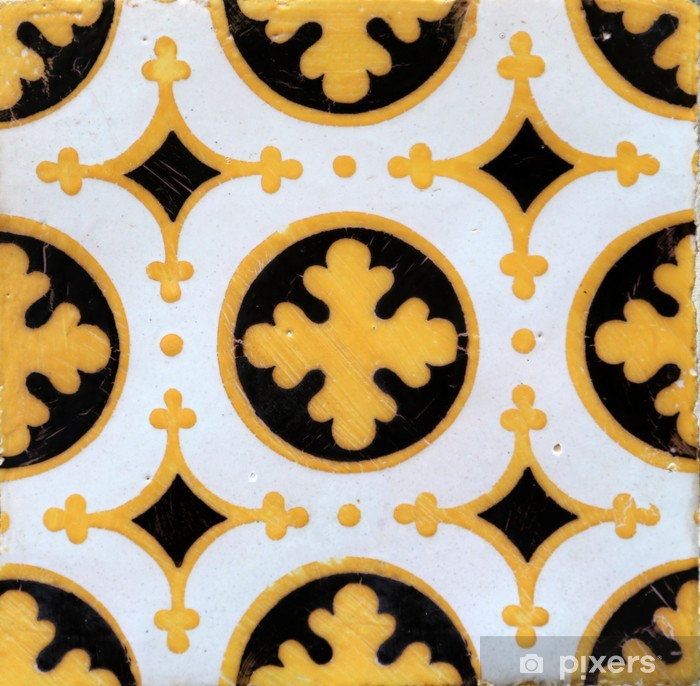 Traditional tiles from Porto, Portugal Pixerstick Sticker - Europe