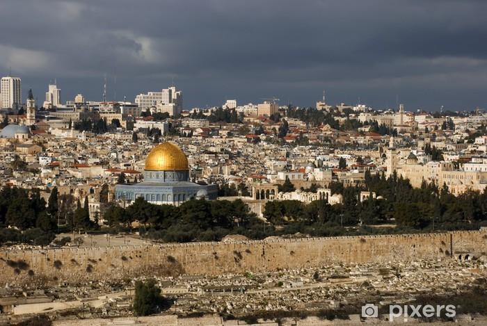 Pixerstick Klistermärken Den heliga staden Jerusalem från Israel - Mellanöstern