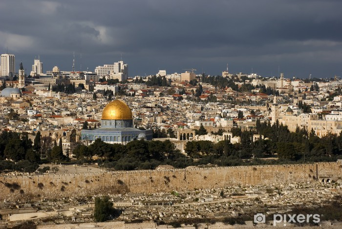 The holy city Jerusalem from Israel Pixerstick Sticker - The Middle East