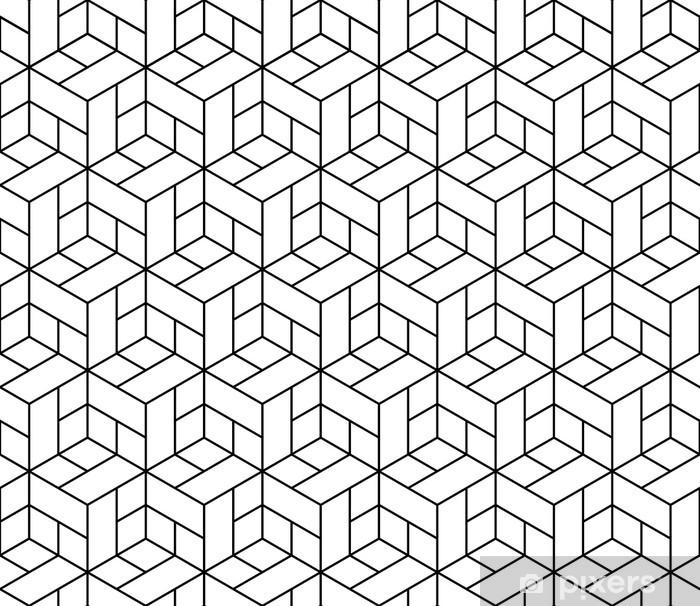 Naklejka Pixerstick Bezproblemowa geometryczny wzór z kostki. - Abstrakcja