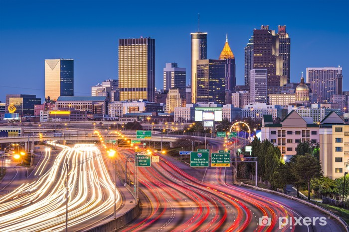 Atlanta, Georgia Skyline Vinyl Wall Mural - America