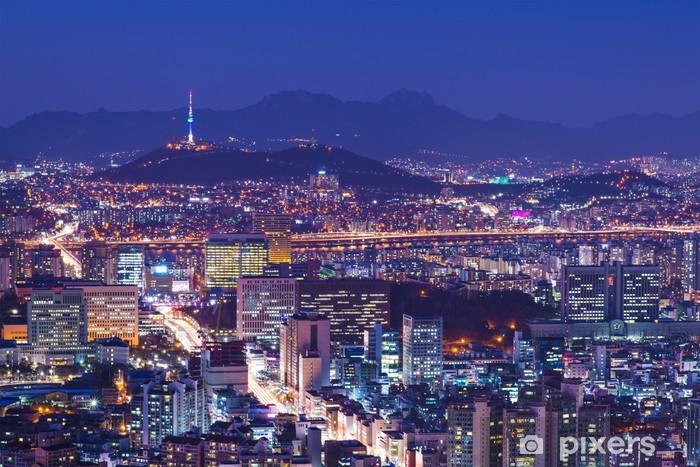 Naklejka Pixerstick Seul skyline - Tematy