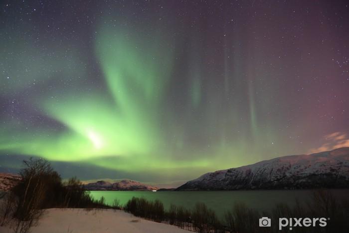 Fototapeta winylowa Northern Lights w Norwegii - Tematy