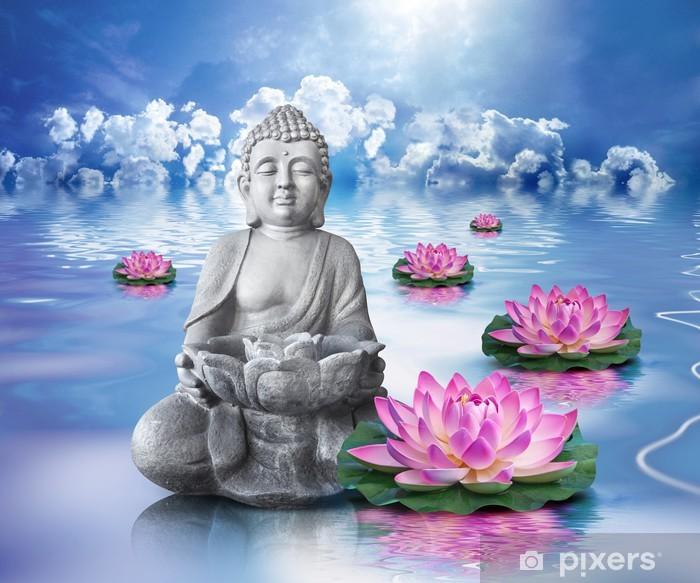 Pixerstick Sticker Boeddha en wellness - Boeddhisme