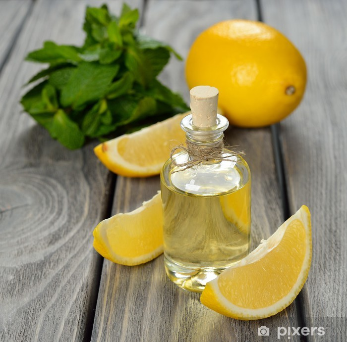 Fotomural Estándar Aceite esencial de limón - Belleza y cuidado personal