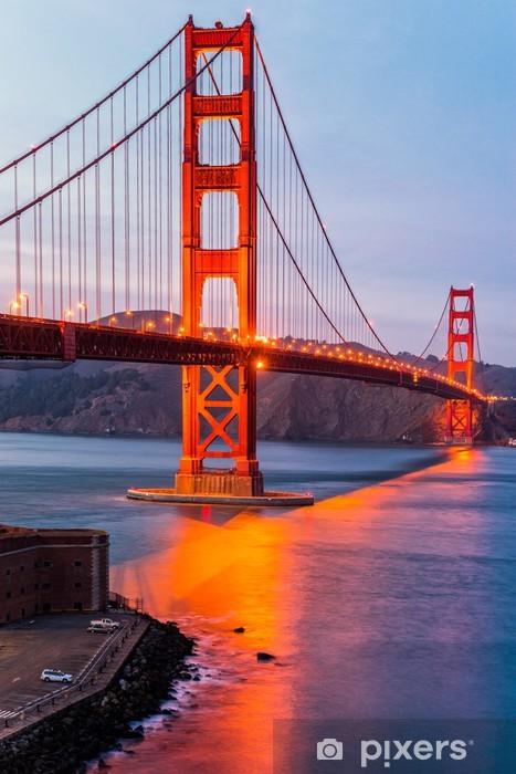 Golden Gate, San Francisco, California, USA. Vinyl Wall Mural - Themes