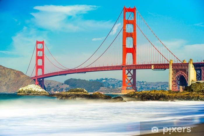 Pixerstick Sticker Golden Gate, San Francisco, Californië, USA. - Thema's