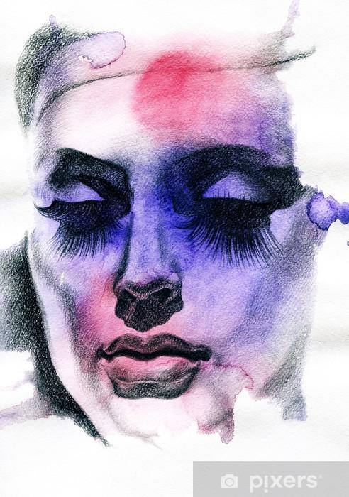 Fototapeta winylowa Piękna kobieto. ręcznie malowane ilustracji mody - Moda